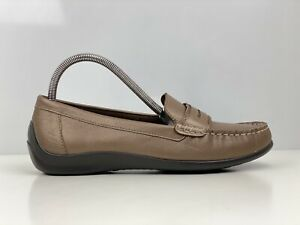 Hotter Darcy Womens Brown Leather Loafers UK Size 5