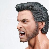 1/6 Scale Figure Hot toys Hugh Jackman Wolverine Head Sculpt For 12'' Male Body