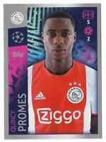 CHAMPIONS LEAGUE TOPPS 2019-20 2020 FIGURINA N.513 AJAX QUINCY PROMES
