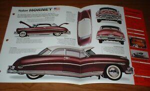 ★★1952 HUDSON HORNET ORIGINAL IMP BROCHURE SPECS INFO 52 51 53 54★★