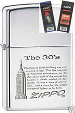Zippo 7883 empire state building 30s Lighter with *FLINT & WICK GIFT SET*