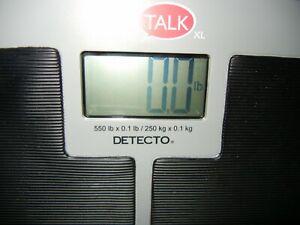 Detecto Digital Slim Talk Talking Bilingual Home Health Bathroom Scale 550 LB
