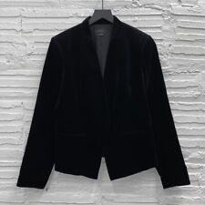 Theory Lanai Open Blazer in Black Cotton Blend Velvet Women's 12