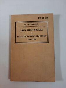 BASIC FIELD MANUAL SOLDIER'S HANDBOOK 1943 Softcover World War II Era