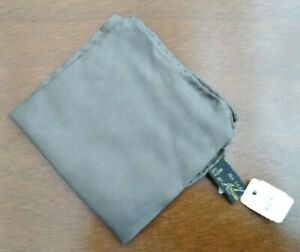 """Ashear 100% Silk Brown Hand Rolled Italy Pocket Square Vintage NWT 18""""x19"""""""