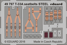 eduard 497971/48 Aircraft- Seatbelts T33A Steel for Great Wall Hobby (Painted)