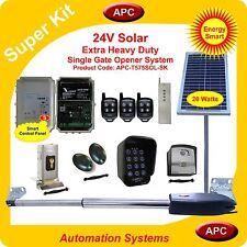 APC Heavy Duty Single Swing Solar Powered Gate Opener System Super Kit