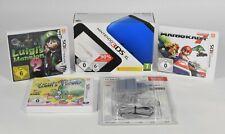 Nintendo 3DS XL blau + schwarz inkl. 3 Spiele und Netzteil (neu)
