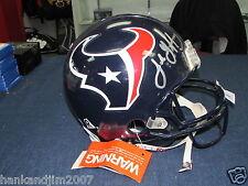 Jabar Gaffney Autographed Houston Texans Full Size Authentic Helmet PSA/DNA COA
