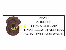 CHOCOLATE  LAB ADDRESS LABELS COOL!!! #1