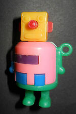 "VINTAGE MINI 1 3/4""  ROBOT Take a part puzzle pink bib~Rohr Cosmic Artifacts"