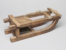 slitta di legno 42 cm regalo Natale Finestra NEGOZIO DECORAZIONE