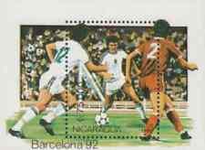 Timbre Sports Football JO Nicaragua BF197 ** lot 16883