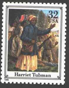 US. 2975k. 32c. Harriet Tubman (c. 1822-1913) Abolitionist. Civil War. 1995