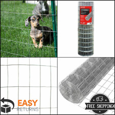 4 x 100 ft. Steel Welded Wire Garden Fencing Mesh Fence PVC Coated Welded Silver