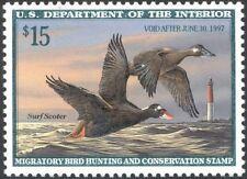 RW63, $15.00 Surf Scoter Federal DUCK Stamp Mint VF NH - Stuart Katz
