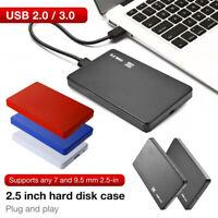 Protable 2.5Inch HDD SSD Case Sata to USB 3.0/2.0 Hard Drive Box Enclosure Nett