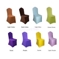 Stretch Chair Covers Solid Color Polyester Slipcover Wedding Banquet Party Decor