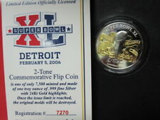 THE OFFICIAL SUPER BOWL 40 GAME COIN--1 OZ SILVER--PITTSBURG STEELERS WIN!!!