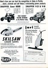 1971 Dealer Print Ad Kaye Corp Snapper Comet 30 V21 V18 Mower Skilsaw Chain Saw