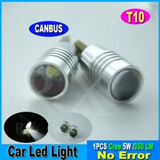 1x CANBUS 501 Cree Bulbs LED Xenon White T10 5W Error Free 2013 Car Sidelights A