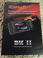 iCarsoft BM II BMW+Mini Read,Reset ABS SRS Service/Oil/break Light i910-2 New