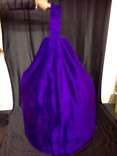 Cover only Adult Beanbag Faux Fur Purple Beanbag Large 6 Cubic Ft New