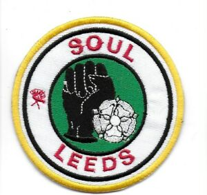 NORTHERN SOUL :  SOUL LEEDS -  Embroidered Iron Sew On Patch Badge