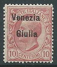 1918-19 VENEZIA GIULIA EFFIGIE 10 CENT MNH ** - P13-3