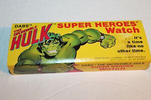 Watch:   THE INCREDIBLE HULK  SUPER HEROES WATCH.  DABS, 1978.  MIB.