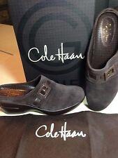 Cole Haan G Series Nike Air Bettie Belt Mules Platform Clogs Brown Suede~7.5~NIB