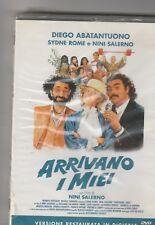 "DIEGO ABATANTUONO,SYDNE ROME, FILM  ""ARRIVANO I MIEI"" DVD NUOVO!"