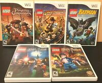 Lot of 5 Nintendo Wii Lego Games - Batman + Harry Potter + Indiana Jones + More!