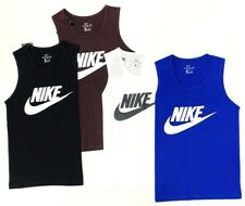 Nike Men's Vest Futra Icon Graphic Logo In Blue, White, Black, Brown