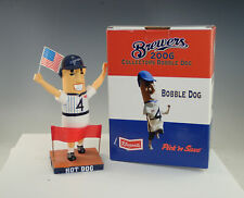 2006 Milwaukee Brewers Klements Racing Sausage Hot Dog Bobblehead In Box