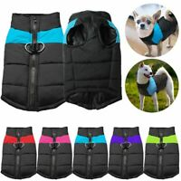 US Pet Dog Vest Jacket Warm Waterproof Clothes Winter Padded Coat  Small/Large