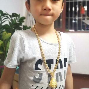 "Eastfeeling Jewelry Buddha lucky pendant 24K Thai  Gold GP Yellow 24"" Necklace"