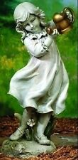 """22"""" Girl With Watering Can Flowers Outdoor Garden Statue Joseph's Studio # 47069"""