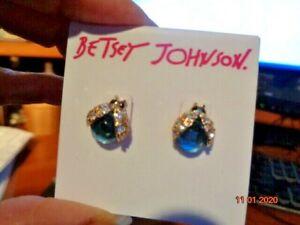 Betsey Johnson ~ Ladybug Post Drop/Dangle Earrings ~ New ~ Too Cute ~