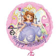 """Disney Sofia Les premiers fête joyeux anniversaire 17 """" rond ballon Plat"""