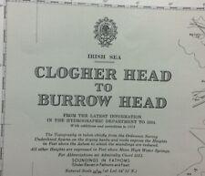 ADMIRALTY SEA CHART. CLOGHER HEAD to BURROW HEAD. No.45. IRISH SEA. 1955