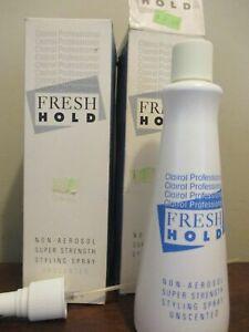 2x Vintage Clairol Fresh Hold hairspray Non-Aerosol Super Strength 8oz Unscented