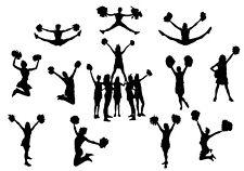 DIE Cut Out SILHOUETTE Cheerleaders 12 FORME DECORAZIONI PER Scrap Book Card Making