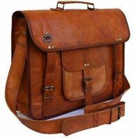 Men's New Genuine Vintage Leather Messenger Handbag Laptop Briefcase Satchel Bag