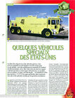 Special Vehicles Oshkosh Firefighting apparatus USA Pompier FICHE FIREFIGHTER