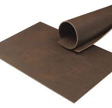 Büffelleder Cacao Pull-Up 3,5 mm Dick Vegetabil A4 Echt Rindsleder Leather 88B