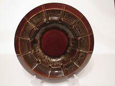Vintage Haeger Pottery Mid Century Brown Drip Glaze Round Ashtray #2148