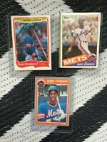 Lot of 4 Darryl Strawberry cards! 1980's. Good condition!  Topps Fleer! NY METS