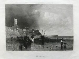 1842 Antique Print; Cromer, Norfolk after Thomas Creswick