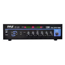 New Pyle PT210 120 WATT MICROPHONE PA Mono Amplifier w/70V Output & Mic TalkOver